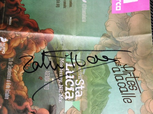Dr Zahi Hawass autograph 2 Oct 2013 Monterrey México